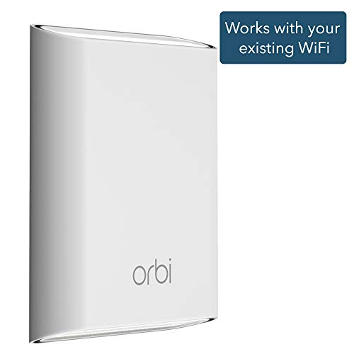 NETGEAR Orbi Outdoor WiFi Mesh Extender, works with your existing WiFi router (RBS50Y) (Best Outdoor Wifi Range Extender)