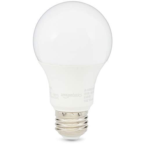 AmazonBasics 75W Equivalent, Soft White, Non-Dimmable, 10,000 Hour Lifetime, A19 LED Light Bulb | 2-Pack ()