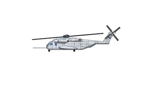 (Trumpeter Sikorsky Ch-53E Model Kit, 1/700-Scale)