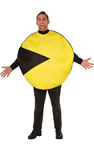 Pacman And Ghost Costumes (Rubie's Costume Co Men's Pacman Costume, Multi,)