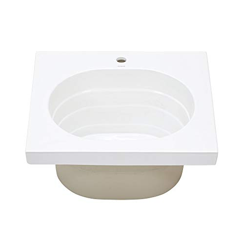 Ronbow Ashland Above Counter White Ceramic Utility Bathroom Sink Top 22