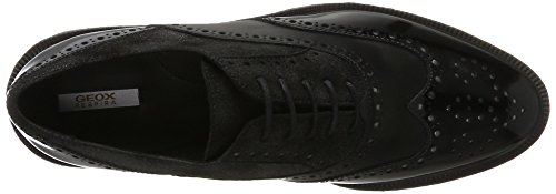 Mujer black Zapatos Prestyn Negro Geox D Vestir Para B De qg6f7wHA