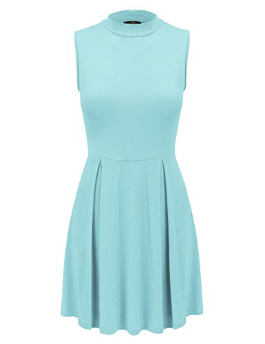 Aqua Sleeveless Dress - 1
