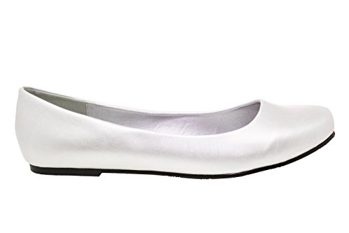 Leather donna Silver Machado Andres Faux Ballerine AM539 wxtOYnq4R
