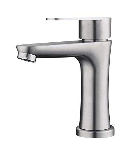Sink Taps Hot and cold stainless steel Basin Single hole Brushed Wash your facePots