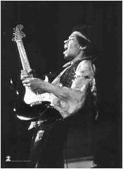 Jimi Hendrix Guitar Black and White Fabric Poster Fabric Poster Print, 30x40