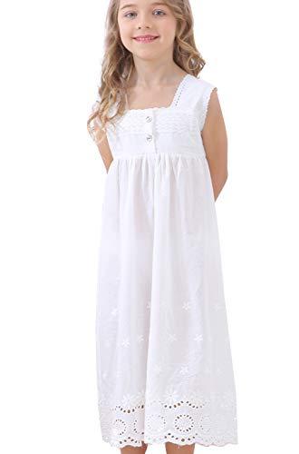 Kids Girls' Lace Nightgown Sleeveless Full Length Princess Dress Sleepwear 3-13 Years