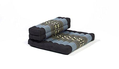 myZENhome Organic Kapok Filled Dhyana Meditation Cushion (Black/Red)