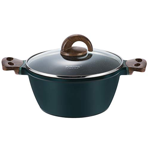 Woo Boreine Dutch Oven Casserole Dish Soup Pot with Glass Lid,Stockpot Nonstick Medical Stone Coating Sauce Pan from…