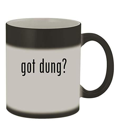 got dung? - 11oz Color Changing Sturdy Ceramic Coffee Cup Mug, Matte Black