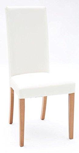 Sedie In Rovere Per Cucina.Arredaweb Sedia Imbottita Ecopelle Bianca Fusto Rovere