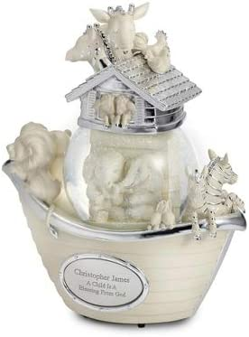 Things Remembered Personalized Noah s Ark Musical Snow Globe with Engraving Included