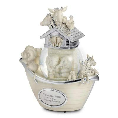 Things Remembered Personalized Noah's Ark Musical Snow Globe with Engraving Included by Things Remembered
