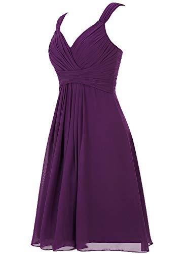 Robe Turquoise Robe Demoiselle Chiffon de fte de d'honneur Robe Robe V Court Bal soire Fminin de Col OqaCnwB