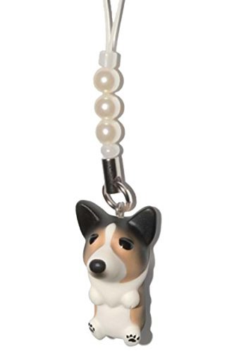 Corgi [ PetLovers ] 92 Dogs Kawaii Strap Charm for Cell Phone and Medias [White beads] DN-7003