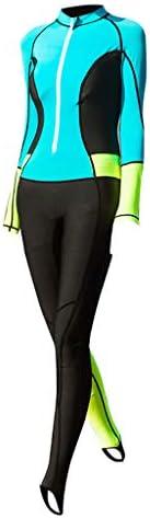 Hunputa レディース 0.5mm ネオプレン 長袖 ダイビング ウェットスーツ スピアフィッシング スーツ 水着 Ma'am ウェットスーツ サーフ シュノーケリング スーツ