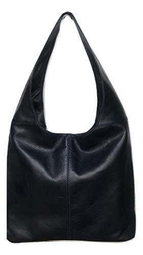 LaGaksta Hobo Bags Italian Leather Dark Navy Blue