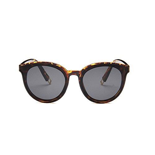 Sunglasses Sol de Moda Coreana Sol Leopardo Femeninas Gafas Gafas Champagne de Gafas Color Hombres de Sol Tendencia Tea de rgWfrR06