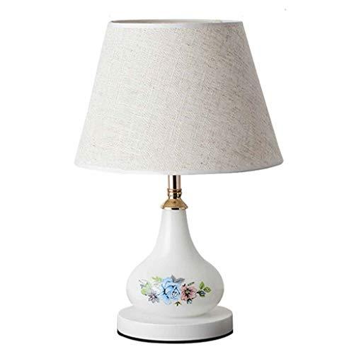 YYQIANG Simple moderna Mesita de luz de lampara de escritorio Eye-Cuidado de Noche de luz pequena de la noche con persiana y suave neutral, interruptor dual doble fuente de luz for el dormitorio de of