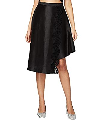 RACHEL Rachel Roy Womens Knee-Length Asymetric A-Line Skirt