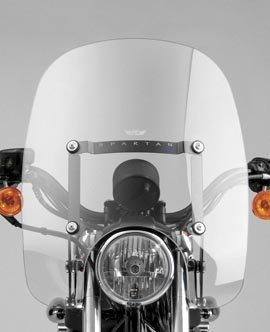 [National Cycle N21300 16.25in. Spartan Quick Release Clear Windshield for 1990-2011 Harley Davidson FLST Models] (Quick Release Windshield)