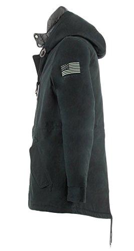 Penn Cotton Giacca Uomo Army Woolrich Eskimoblack Rich Termica wqCz6Htz