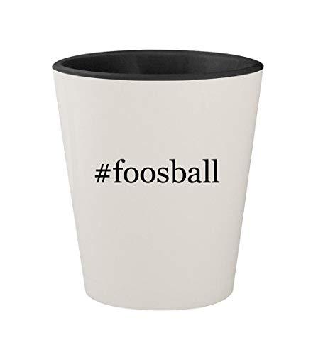 #foosball - Ceramic Hashtag White Outer & Black Inner 1.5oz Shot Glass ()