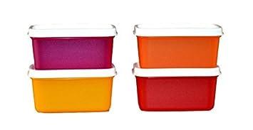 Tupperware 1012653899 Plastic Container   160 ml, 4 Pieces, Multicolored