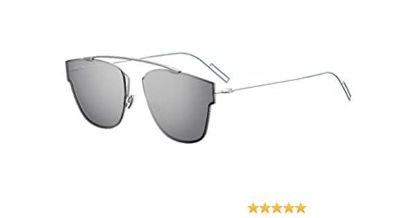 62633e8fc5 Amazon.com  Christian Dior 0204 S Sunglasses Matte Palladium Silver Mirror   Clothing