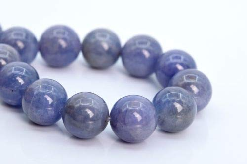 11mm Genuine Natural Light Color Tanzanite Beads Grade Round Loose Bead 7.5'' Crafting Key Chain Bracelet Necklace Jewelry Accessories Pendants