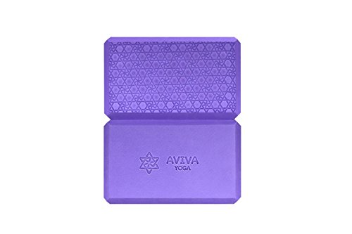 9x6x4 Yoga Block Set - 2 Non Toxic EVA Foam Blocks and Free Sackpack. Essential Prop for Yoga and Stretches. Support, Deepen Your Poses and Gain Strength, Balance and Flexibility