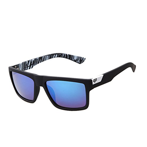 Tansle Wayfarer Sunglasses Classic 80's Vintage Colorful Art Arm Lens ()