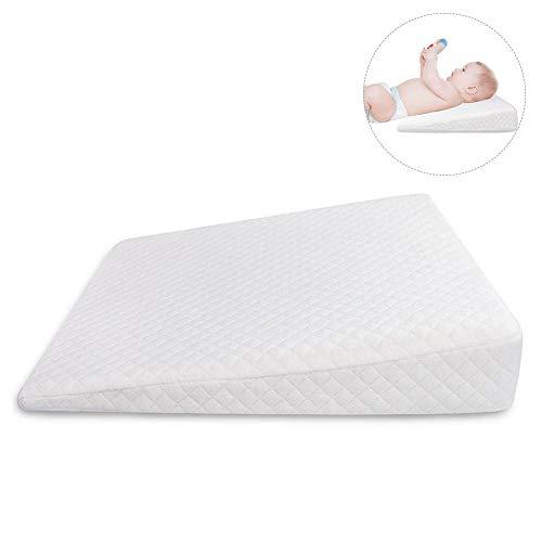 Aurelius Waterproof Baby Sleep Pillow Reflux Pillow Wedge 12Degree Incline,Anti-Reflux Colic Congestion for Universal Bassinet//Bassinet//Pram//Moses Basket//Stroller//Crib