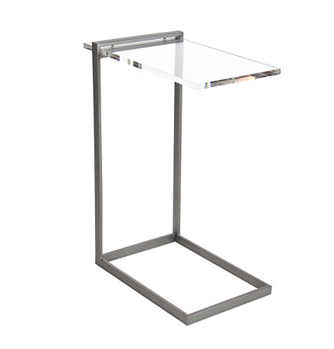 Deco 79 Metal and Acrylic Table, 18″ x 24″, Clear/Black Review
