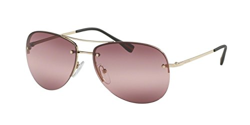 Prada PS50RS Sunglasses ZVN6M0-62 - Pale Gold Frame, Pink - Prada Pink Sunglasses