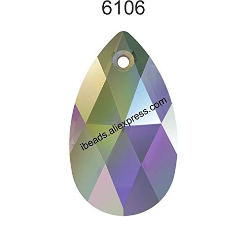 (Pukido (1 Piece) 100% Original Crystal from Swarovski 6106 Pear-Shaped Pendant from Austria Loose Beads Rhinestone DIY Jewelry Making - (Color: Crystal 001 PARSH, Item Diameter: 16mm))