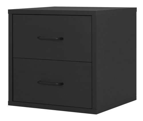 Foremost 327406 Modular 2-Drawer Cube Storage System, Black