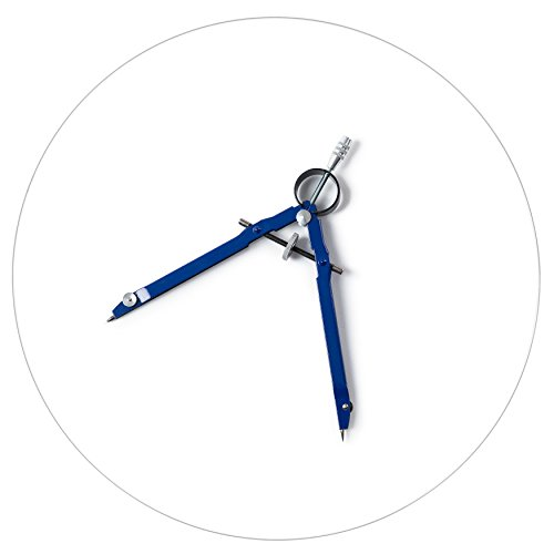 Mr. Pen- Professional Compass with Lock, 10 in Diameter, Compass for Geometry, Spring Bow Compass, Precision Compass Math, Drafting Compass, Compass Drawing, Compass with Wheel,Metal Compass ()