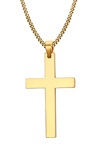 Dreamstone Stainless Steel Simple Cross Pendant Necklace for ()