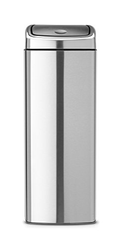 Can Brabantia Rectangular Trash (Brabantia Rectangular Touch Bin, 6 Gal / 25L, Matte Steel Finger Print Proof)