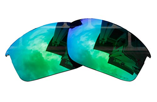 (Polarized Replacement Lenses for Oakley Bottle Rocket Sunglasses - 5 Options Available (Emerald Green Mirror Coatings))
