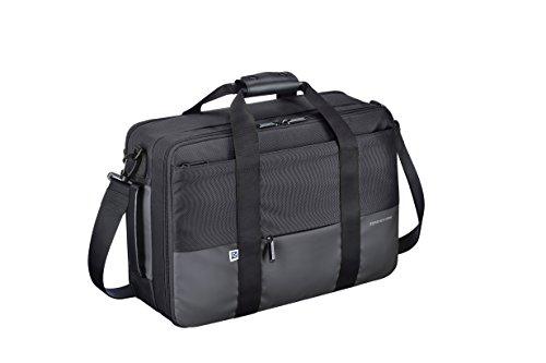 Briefcase Halliburton Black Zero (Zero Halliburton Gramercy - Large 3way Shoulder Bag, Black, One Size)