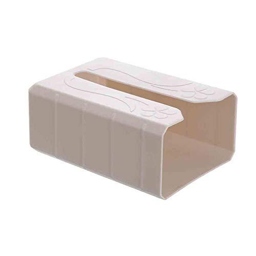 Lemoning , Waterproof Bathroom Punch-Free Toilet Tissue Tray Paper Rack Roll Paper Box Tool Beige]()