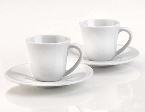 Alessi Ku Mocha Cup And Saucer - Set Of Four 1109407