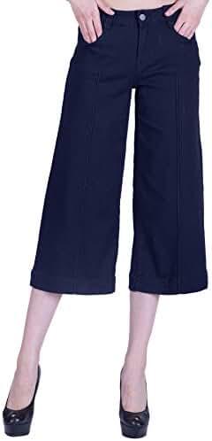 naafii Missy & Plus Size Basic Loose Capri Jeans Pants