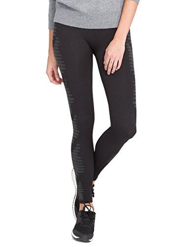 Spanx Womens Aztec Stripe Seamless Legging, Xl, Black