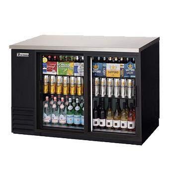 Everest EBB48G-SD Back Bar Cooler 2 Glass Slide Door Refrigerator