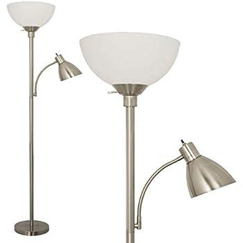 Simple Designs Home Lf2000 Slv Simple Designs Floor Lamp