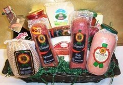 Italian Salami Antipasto and Gourmet Treats Basket by PastaCheese