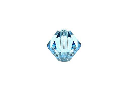 - Swarovski Crystal, 5328 Bicone Beads 3mm, Aquamarine, Wholesale Packs   Pack of 100